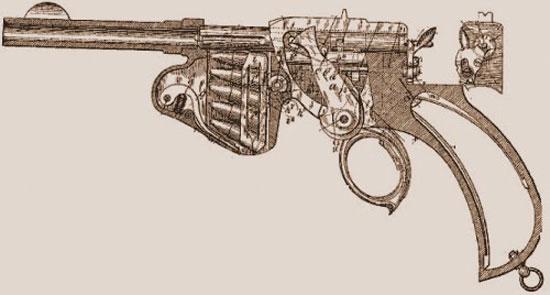 схема пистолета Лаумана.