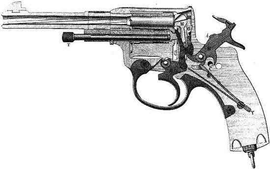 Наган обр 1895 года производства Бельгии схема устройства револьвера.