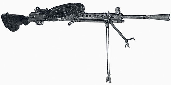 "Ручной пулемет Дегтярева -  ""7,62-мм ручной пулемет обр.  1927 г. "" или ДП ( ""Дегтярев пехотный "") ."